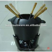 Cast Iron Fondue Set 3