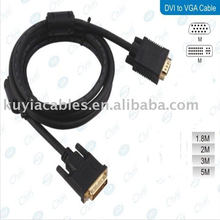 DVI 24+5 Male to VGA Male Monitor Cable 1.5m Gold