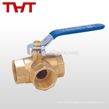 3 way female threaded tri clamp brass custom ball valve handles