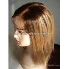 la peluca llena más popular del cordón del cabello humano al por mayor para las mujeres, tiene acción y precio de fábrica