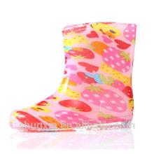 Patrón de caramelo chilren botas de lluvia niños botas de lluvia