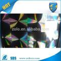 2016 hot sale custom design PET self adhesive transparent holographic film