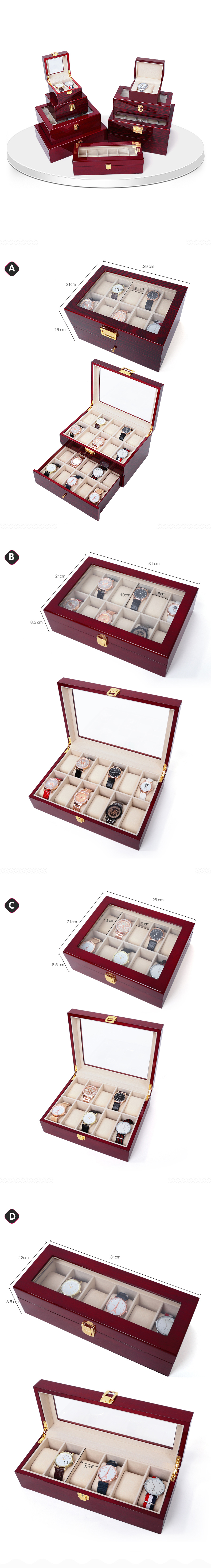 Rosewood Storage Box For Watches