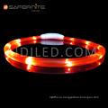 Перезаряжаемый светодиодный светящийся ошейник безопасности