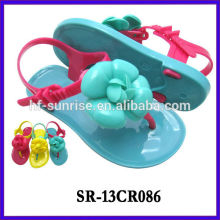 SR-13CR086 kids plastic sandals wholesale flat heel jelly sandals children wholesale jelly sandals