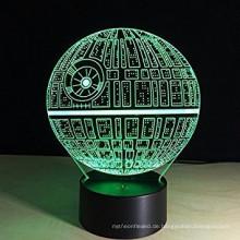 2017 neue produkt 3D Illusion nachtlicht Optische Schlafzimmer Nacht 7 Farbwechsel LED Schreibtisch Tischlampe