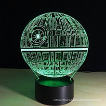 2017 new product 3D Illusion night Light Optical Bedroom Night 7 Color Change LED Desk Table Lamp