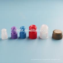 Tubo de ensayo de plástico tapones de sellado 15 mm