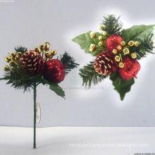 Plastic Decorative Plush Christmas tree ornaments Christmas picks