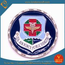 Aduana de suministro de zinc aleación recuerdo de metal militar moneda (kd-002)