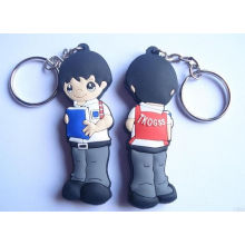 Promotional Logo Printed Rubber Keychains PVC Silicone Keyrings
