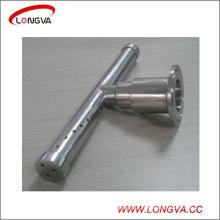 Boule de nettoyage rotative sanitaire de réservoir de type T d'acier inoxydable