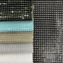 Regular 5mm Sequin Embroidery On Chiffon Fabric