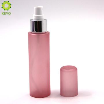 Botella plástica rosada coloreada cosmética vacía de la bomba del rociador del perfume del cosmético 100ml