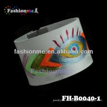 Fashionme venta por mayor cuero engravable pulseras