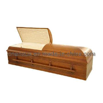 Cercueil de bois de peuplier massif de Juifs/sont Style (3JH1005)
