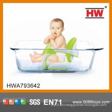 Hot vendendo plástico verde e branco bebê cadeira de banho