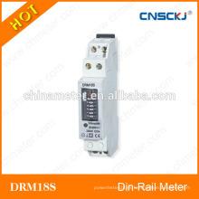 DRM18S Indicador monofásico de la cantidad de los metros del watt-hora del din-carril