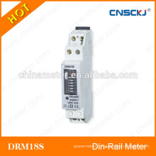 DRM18S Single phase number display din-rail watt-hour meters