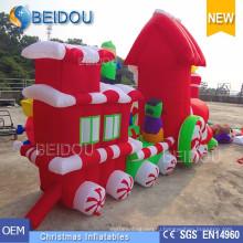 Рождественские украшения на санях Украшения надувные Рождественский поезд