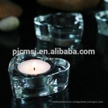 En oferta / promoción-US $ 1: Candelero de cristal en forma de corazón / candelita para decoración del hogar y regalo CH-M015