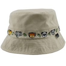 Washed Binding Embroidery Leisure Fishing Bucket Hat (TMBH8998)