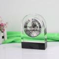 Horloge de table en cristal Horloge de table en bois