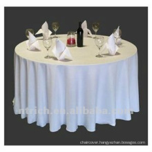 beautiful table cloth for weddings and banquet,100%polyester table cloth