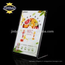 JINBAO Acrylique porte-documents porte-plexiglas support de table porte-menu
