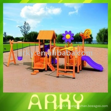 Équipement extérieur en bois de haute qualité pour terrain de jeux