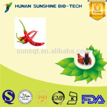 capsaicin Oleoresin Capsicum 20%-99% HPLC, capsaicin oil as ingredient for topical oil pain reliever, highest concentration