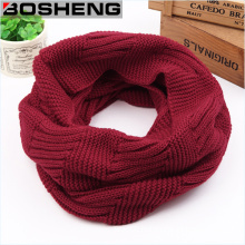 100%Acrylic Wrapables Thick Knitted Winter Warm Infinity Scarf