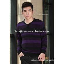 Моде мужская V шеи Кашемировый свитер пуловер
