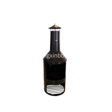 Grote outdoor tuin Chimenea Black Fire Pit