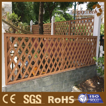 European Style Patio Garden Classical WPC Solid Wood Fence