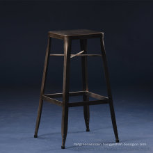 Antique Style Industrial Square Gunmetal High Bar Stool (SP-MC074)