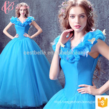 Beijing real sample new woman fashion evening dresses