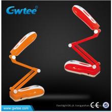 Toque interruptor dobrável recarregável lâmpada de mesa LED