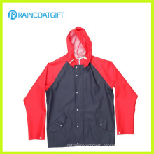 Quality Waterproof PU Raincoat Rpu-011