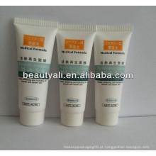100g PE plástico macio plástico embalagem tubo branco para loção corporal com tampa de rosca
