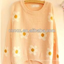 12STC0678 suéteres japoneses florais vintage das mulheres