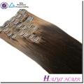 Оптовая 5А класс-русый Цвет тела волна клип в Виргинские бразильские Remy выдвижения человеческих волос