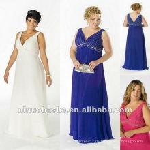 V-Ausschnitt Chiffon mit Perlen Top Abendkleid 2012