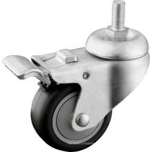 Rodízios de haste de rosca de serviço médio com freio