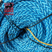 12 Strand 72mm Nylon Material Braided Rope with blue Color