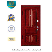 Chinese Style Security Door for Entrance with Brown Color (E-1008)