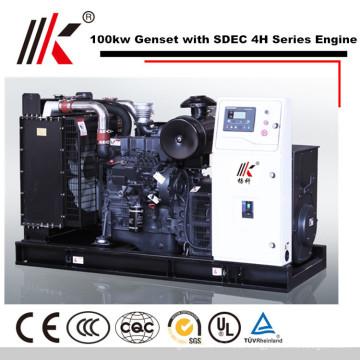 100KW GENERATOR SET WITH SDEC SC4H180D2 DIESEL ENGINE 125KVA GENSET