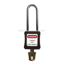 LOTO Lock Steel Long Shackle Long Body Verrouillage de sécurité ABS
