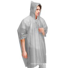 Custom Logo print Orange Reflective Disposable Biking Rain Gear Ponchos Raincoats