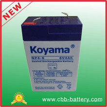 6V 4ah Bleisäure AGM Batterie für Taschenlampe, Spielzeug